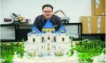 男子用66万块积木搭桌上圆明园 还原最真实的圆明园