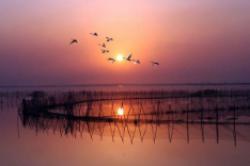中国最大的淡水湖 鄱阳湖面积:3150平方千米