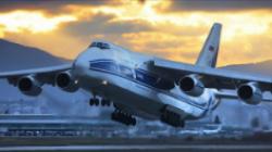 最大的运输机  安-225运输机 (机长:84米;翼展:88.74米)